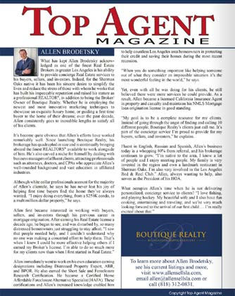 Top Agent Magazine - Allen Sells LA